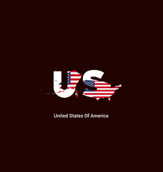 united states america initial letter country vector image