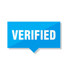 Verified price tag vector