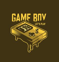 Vintage gaming concept vector