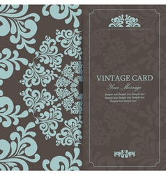 vintage invitation card dark vector image