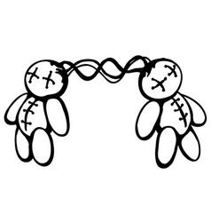 Voodoo dolls link vector