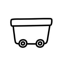 Wagon on wheels toy plastic icon vector