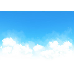 white clouds with blue sky vector image