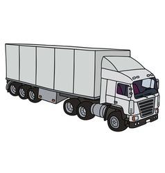 White semitrailer truck vector