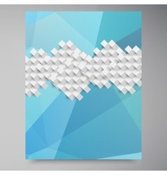 abstract background Polygon blue and card vector image vector image