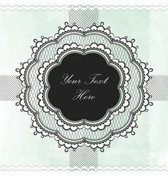 Black vintage lace border vector image