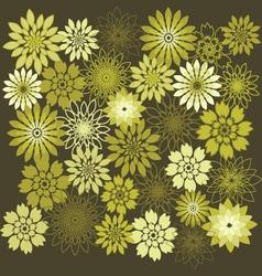 Flower Design Elements Flower Background vector image vector image