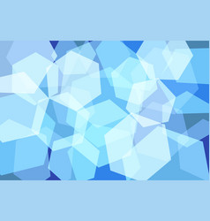 light blue hexagon abstract background vector image vector image