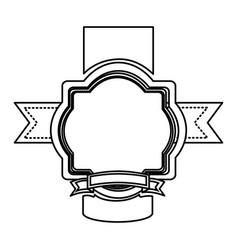 silhouette heraldic ornament decorative icon vector image