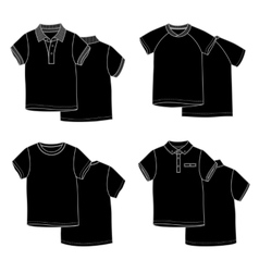 T-shirtsBlack vector image vector image