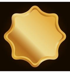 blank metallic label or seal icon image vector image vector image