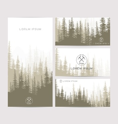 Business cards design set of brown forest and vector image vector image