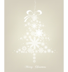 Christmas Tree with stars background vector image vector image