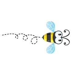 Funny honey bee vector image