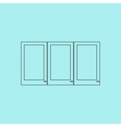 Three window icon sign and button vector image vector image