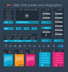 Web Design Stuff price panel and infographic vector image vector image