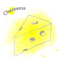Abstract decorative cheese sketch vector image vector image