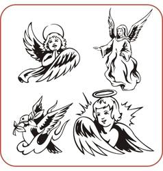 Angels - set vector image vector image