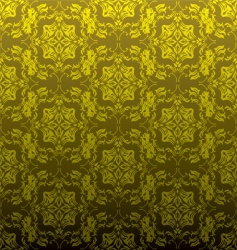golden floral repeat vector image