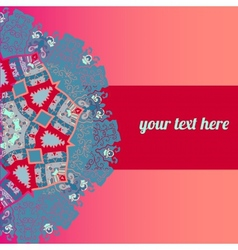 ornate frame with sample text Pink vector image vector image