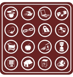 web and computing icons vector image vector image