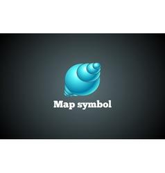Map design symbol vector image vector image