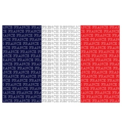 The French Republic Text Flag vector image vector image