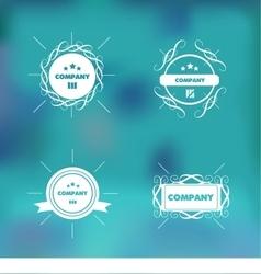 Trendy retro vintage badges logo set vector image vector image