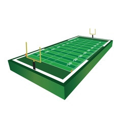 3D American Football Field vector