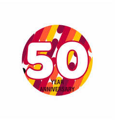 50 year anniversary purple template design vector