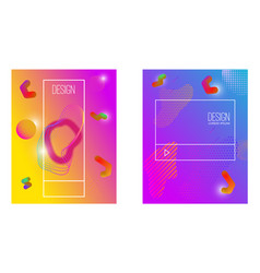 abstract background with gradient waves and vector image