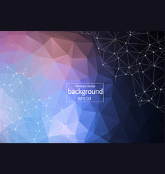 abstract polygonal space red and blue background vector image