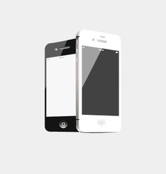 Black and white phone vector image