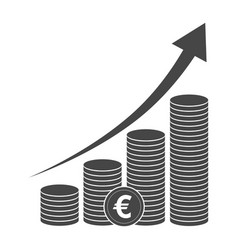 Black euro icon vector