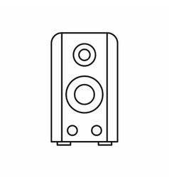 Black sound speaker icon outline style vector image vector image
