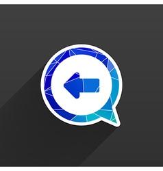 Blue arrowleft symbol business white background vector