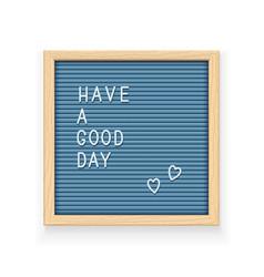 blue letter board vector image