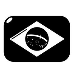 Brazilian flag icon simple black style vector
