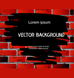 brick wall background with abstract black vector image