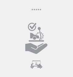 Car crash check - web icon vector