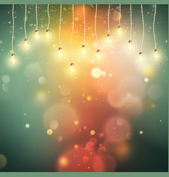 christmas night lights background eps 10 vector image vector image