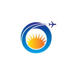 circle plane sun vector image
