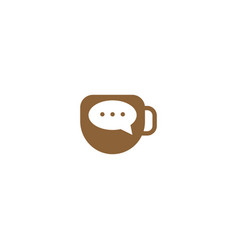 Coffee chat graphic design template simple vector