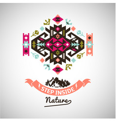 Colorful decorative element on native vector