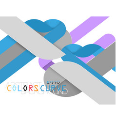 Colorful shape modern style vector