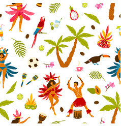 colorful traditional brazilian attributes seamless vector image