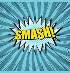 Comic smash wording concept vector