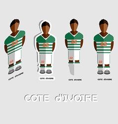 Cote divoire soccer team sportswear template vector