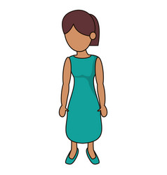 Drawing mother woman person vector