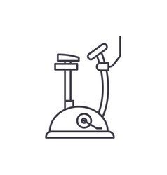 exercise bike line icon concept exercise bike vector image